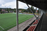 20140715 - Strømmen , NORWAY : Strommen Stadion pictured during the female soccer match between Women under 19 teams of  Belgium and Scotland , on the first matchday in group A of the UEFA Women Under19 European Championship at Strommen Stadion , Norway . Tuesday 15th July 2014 . PHOTO DAVID CATRY