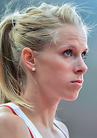 August 05, 2012: Sara Peterson of DEN prepares to compete in round one of women's 400m hurdles at the Olympic Stadium on day nine of 2012 Olympic Games in London, United Kingdom.