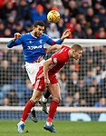 01.02.2020 Rangers v Aberdeen: Connor Goldson and Sam Cosgrove