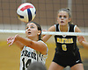 Crista Esposito #14 of Lynbrook makes a set during a Nassau County Conference A1 varsity girls volleyball match against Wantagh at Lynbrook High School on Thursday, Sept. 8, 2016. Wantagh won the match 3-1.