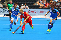 China's Guo Xiaoping in midfield action during the Hockey World League Semi-Final Pool A match between China and Korea at the Olympic Park, London, England on 17 June 2017. Photo by Steve McCarthy.
