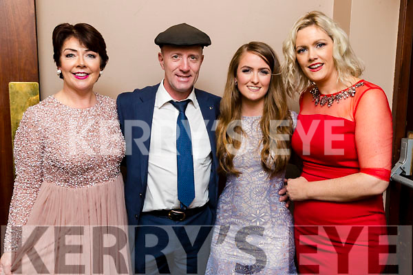 Judges Mary O'Donnell, Michael Healy Rae TD, Joanne O'Connor and Cllr Toireasa Ferris at the John Mitchels GAA 'Strictly Come Dancing' at Ballygarry House Hotel on Sunday night.
