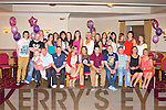 KEY TO THE DOOR: Amy Conway, Racecourse Heights, Tralee (seated centre) having a great time celebrating her 21st birthday with family and friends at the Strand Road clubhouse, Tralee on Saturday.