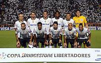 SAO PAULO SP, 13  MARCO 2013 - Libertadores da America - CORINTHIANS X TIJUANA -  time posa    durante partida valida pela Taca Libertadores da Amercia no Estadio do Pacaembu em Sao Paulo, nesta quarta feira, 13. (FOTO: ALAN MORICI / BRAZIL PHOTO PRESS).