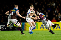 Exeter Chiefs' Sam Hill in action during todays match<br /> <br /> Photographer Bob Bradford/CameraSport<br /> <br /> Aviva Premiership Round 20 - Harlequins v Exeter Chiefs - Friday 14th April 2016 - The Stoop - London<br /> <br /> World Copyright &copy; 2017 CameraSport. All rights reserved. 43 Linden Ave. Countesthorpe. Leicester. England. LE8 5PG - Tel: +44 (0) 116 277 4147 - admin@camerasport.com - www.camerasport.com