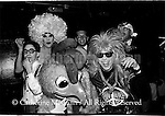"October 17, 1990:  A group portrait of ""Club Nightmares"" at the Limelight nightclub in New York City.  L-R:  Sebastian Jr., Angel Jack, Clara the Carefree Chicken,  Mop and Glow, Citrus Hills and Brian Schwartz."