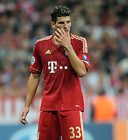 FUSSBALL   CHAMPIONS LEAGUE   SAISON 2011/2012     27.09.2011 FC Bayern Muenchen - Manchester City FC Mario Gomez (FC Bayern Muenchen)
