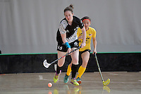 New Zealand's Kathryn Stewart in action during the World Floorball Championships 2017 Qualification for Asia Oceania Region - New Zealand v Malaysia at ASB Sports Centre , Wellington, New Zealand on Saturday 4 February 2017.<br /> Photo by Masanori Udagawa<br /> www.photowellington.photoshelter.com.