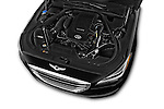 Car Stock 2015 Hyundai Genesis 3.8 4 Door Sedan Engine high angle detail view