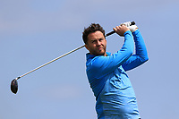 Gerard Dunne (Co.Louth) on the 10th tee during Round 4 of The East of Ireland Amateur Open Championship in Co. Louth Golf Club, Baltray on Monday 3rd June 2019.<br /> <br /> Picture:  Thos Caffrey / www.golffile.ie<br /> <br /> All photos usage must carry mandatory copyright credit (© Golffile | Thos Caffrey)