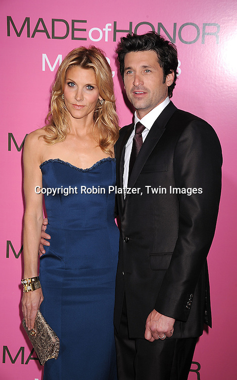 "Patrick Dempsey and wife Jillian..arriving at The World Premiere of ""Made Of Honor"" starring ..Patrick Dempsey and Michelle Monaghan on April 28, 2008 at The Ziegfeld Theatre in New York City. ....Robin Platzer, Twin Images"
