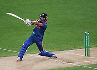 Gautam Gambhir bats during 2nd Twenty20 cricket match match between New Zealand Black Caps and West Indies at Westpac Stadium, Wellington, New Zealand on Friday, 27 February 2009. Photo: Dave Lintott / lintottphoto.co.nz