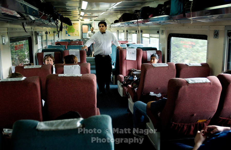 A view from inside the Economic train of the Chihuahua Pacifico Railway in Copper Canyon, Mexico, Saturday, June 21, 2008. The Economic train offers cheaper rides, more frequent stops, and open windows for great views of the canyon. ..PHOTOS/ MATT NAGER