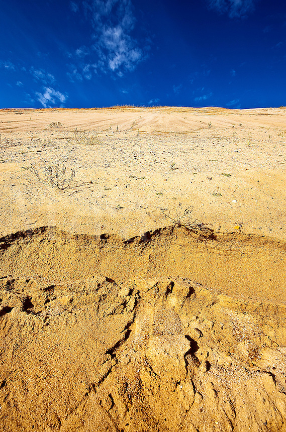 Huge sand dune cliffs at Long Nook Beach, Cape Cod National Seashore, Truro, Cape Cod, MA, USA