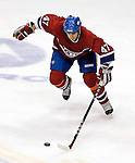 16 January 2007: Montreal Canadiens right wing forward Aaron Downey in action against the Vancouver Canucks at the Bell Centre in Montreal, Canada. The Canucks defeated the Canadiens 4-0.Mandatory Credit: Ed Wolfstein Photo *** Editorial Sales through Icon Sports Media *** www.iconsportsmedia.com