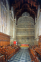 Oxford: New College Chapel, 1330-1386. But the screen is Sir George Gilbert Scott, 1877-81.