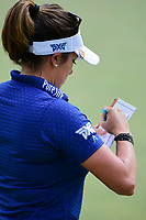 Gerina Piller (USA) after sinking her putt on 9 during round 2 of  the Volunteers of America Texas Shootout Presented by JTBC, at the Las Colinas Country Club in Irving, Texas, USA. 4/28/2017.<br /> Picture: Golffile | Ken Murray<br /> <br /> <br /> All photo usage must carry mandatory copyright credit (&copy; Golffile | Ken Murray)