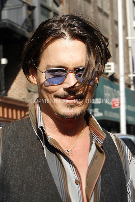 WWW.ACEPIXS.COM . . . . .  ....June 25 2009, New York City....Actor Johnny Depp made an appearance on the 'Late Show with David Letterman' at the Ed Sullivan Theatre on June 25 2009 in New York City....Please byline: NANCY RIVERA- ACE PICTURES.... *** ***..Ace Pictures, Inc:  ..tel: (212) 243 8787 or (646) 769 0430..e-mail: info@acepixs.com..web: http://www.acepixs.com