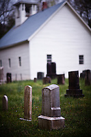 Grave Headstones and Primitive Baptist Church