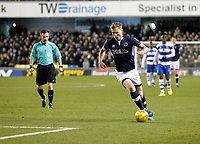 Aiden O'Brien of Millwall on the ball during the Sky Bet Championship match between Millwall and Queens Park Rangers at The Den, London, England on 29 December 2017. Photo by Carlton Myrie / PRiME Media Images.