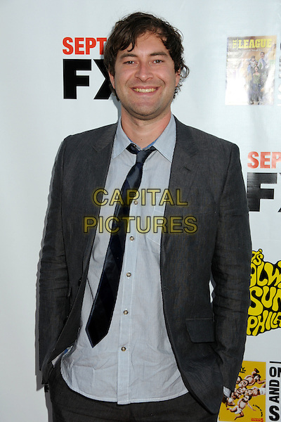 "MARK DUPLASS .""It's Always Sunny in Philadelphia"" Season Five and ""The League"" Season One Premiere Screening Celebrating the Sept. 14th DVD/Blu-Ray Release held at The Cinerama Dome, Hollywood, California, USA, 14th September 2010..half length suit jacket black tie grey gray shirt smiling .CAP/ADM/BP.©Byron Purvis/AdMedia/Capital Pictures."