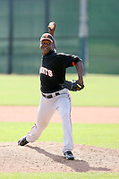 Jose Casilla of the San Francisco Giants plays in a minor league spring training game against the Colorado Rockies at the Giants minor league complex on March 30, 2011  in Scottsdale, Arizona. .Photo by:  Bill Mitchell/Four Seam Images.