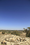 Israel, Shephelah, ruins of the Crusader fortress Blanche Garde in Tel Zafit