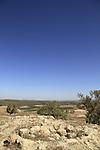 Israel, Shephelah, ruins of the Crusader fortress Blanche Garde in Tel Zafit