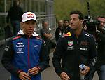 24.08.2018, Circuit de Spa-Francorchamps, Spa-Franchorchamps, FORMULA 1 2018 JOHNNIE WALKER BELGIAN GRAND PRIX, 23. - 26.08.2018<br /> , im Bild<br />Sebastian Vettel (GER#5), Scuderia Ferrari<br />Pierre Gasly (FRA#10), Red Bull Toro Rosso Honda, Daniel Ricciardo (AUS#3), Aston Martin Red Bull Racing<br /> <br /> Foto © nordphoto / Bratic