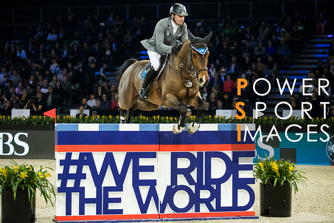 Philipp Weishaupt of Germany riding Chacon competes in the Longines Speed Challenge during the Longines Masters of Hong Kong at AsiaWorld-Expo on 10 February 2018, in Hong Kong, Hong Kong. Photo by Ian Walton / Power Sport Images
