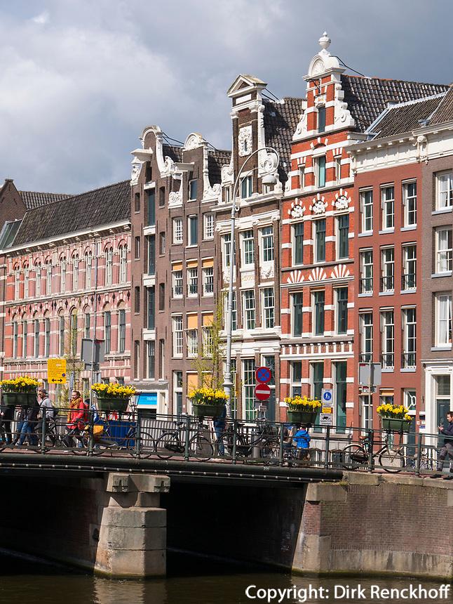 Giebelh&auml;user am Rokin, Amsterdam, Provinz Nordholland, Niederlande<br /> Gabled houses at RokinMunttoren, Amsterdam, Province North Holland, Netherlands