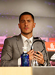 Eden Hazard is presented as new player of Real Madrid CF at Estadio Santiago Bernabeu on June 13, 2019 in Madrid, Spain. (ALTERPHOTOS/Manu R.B.)