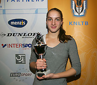 01-12-13,Netherlands, Almere,  National Tennis Center, Tennis, Winter Youth Circuit, Girls 16 years , 3 th place: Isolde de Jong<br /> Photo: Henk Koster
