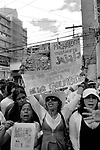 """Tegucigalpa (Honduras). November, 2009..The """"Resistance"""" against the coup d'etat celebrates every day a meeting at La Merced Square (Tegucigalpa downtown). At this Square is located de National Congress, protected by soldiers and policemen."""