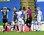 30th September 2017, Madejski Stadium, Reading, England; EFL Championship football, Reading versus Norwich City; Marley Watkins of Norwich City receives a red card