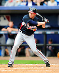 2 March 2010: Atlanta Braves infielder Freddie Freeman in action against the New York Mets during the Opening Day of Grapefruit League play at Tradition Field in Port St. Lucie, Florida. The Mets defeated the Braves 4-2 in Spring Training action. Mandatory Credit: Ed Wolfstein Photo