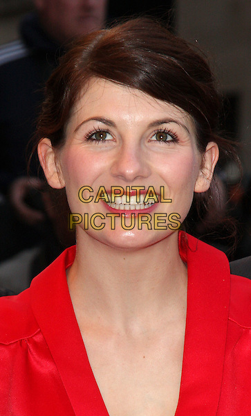 JODIE WHITTAKER.'The Kid' UK premiere held at the Odeon West End, Leicester Square, London, England..15th September 2010.headshot portrait red silk satin collar smiling.CAP/ROS.©Steve Ross/Capital Pictures