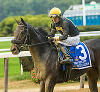 OCTOBER 7, 2018 : Take Me to Hardoon in the Frizette Stakes at Belmont Park on October 6, 2018 in Elmont, NY.  Sue Kawczynski/ESW/CSM
