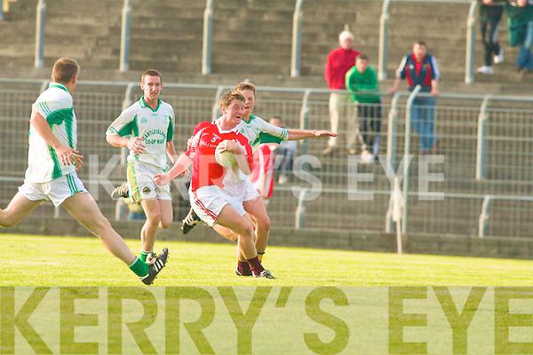 St Kieran's James Walsh and West Kerry's Michael O'Flaharta.