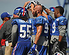 Members of the New York Giants defense gather during practice at Quest Diagnostics Training Center in East Rutherford, NJ on Monday, Aug. 29, 2016.