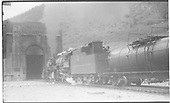 D&amp;RGW 2-8-8-2 #3405 with The Ute about to enter the East Portal of the Moffat Tunnel.<br /> D&amp;RGW  Moffat Tunnel, CO  Taken by Perry, Otto C. - 6/25/1939