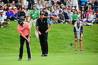 Rory McIlroy (IRL) watches his birdie attempt on 17 during round 3 of the World Golf Championships, Mexico, Club De Golf Chapultepec, Mexico City, Mexico. 3/4/2017.<br /> Picture: Golffile | Ken Murray<br /> <br /> <br /> All photo usage must carry mandatory copyright credit (&copy; Golffile | Ken Murray)