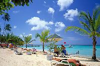 Trinidad & Tobago, Commonwealth, Tobago, Pigeon Point: Tobago's famous beach