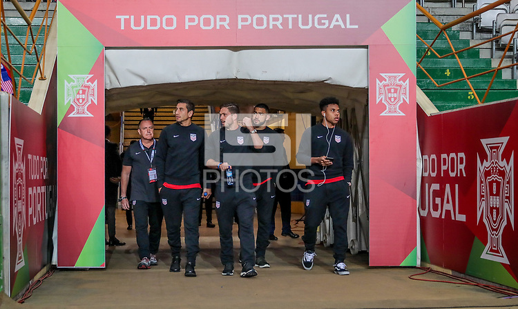 Leiria, Portugal - Tuesday November 14, 2017:  during an International friendly match between the United States (USA) and Portugal (POR) at Estádio Dr. Magalhães Pessoa.