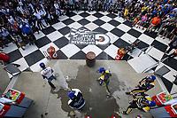 P2 Podium, #52 PR1 Mathiasen Motorsports ORECA LMP2, LMP2: Matthew McMurry, Eric Lux, Gabriel Aubry, #38 Performance Tech Motorsports ORECA LMP2, LMP2: Kyle Masson, Cameron Cassels, Andrew Evans, Champagne