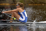 (Cambridge Ma 101913)  Genevra Stone  of Cambridge who came in second in the Women's Championship Singles, during the 2013 Head of the Charles Regatta, Saturday on the Charles River in Cambridge. (Jim Michaud Photo) For Sunday