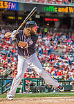 11 September 2016: Washington Nationals outfielder Jayson Werth in action against the Philadelphia Phillies at Nationals Park in Washington, DC. The Nationals edged out the Phillies 3-2 to take the rubber match of their 3-game series. Mandatory Credit: Ed Wolfstein Photo *** RAW (NEF) Image File Available ***
