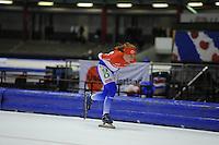 SCHAATSEN: HEERENVEEN: 25-10-2014, IJsstadion Thialf, Marathonschaatsen, KPN Marathon Cup 2, Foske Tamar van der Wal (#90), ©foto Martin de Jong