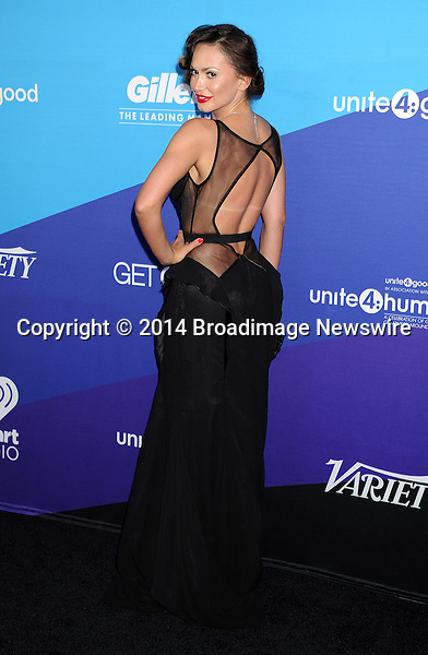 Pictured: Karina Smirnoff<br /> Mandatory Credit &copy; Gilbert Flores/Broadimage<br /> Unite4:Humanity Event<br /> <br /> 2/27/14, Culver City, California, United States of America<br /> <br /> Broadimage Newswire<br /> Los Angeles 1+  (310) 301-1027<br /> New York      1+  (646) 827-9134<br /> sales@broadimage.com<br /> http://www.broadimage.com
