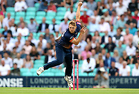 Jamie Porter in bowling action for Essex during Surrey vs Essex Eagles, Vitality Blast T20 Cricket at the Kia Oval on 12th July 2018